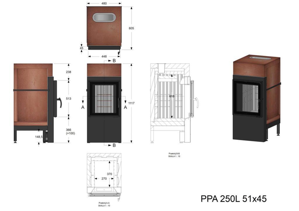 Palenisko akumulacyjne PPA 250 L 51x45