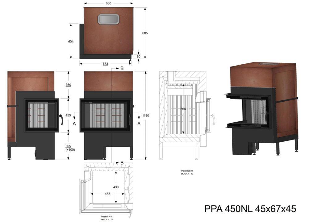 Palenisko akumulacyjne PPA 450 NL/NP 45x67x45