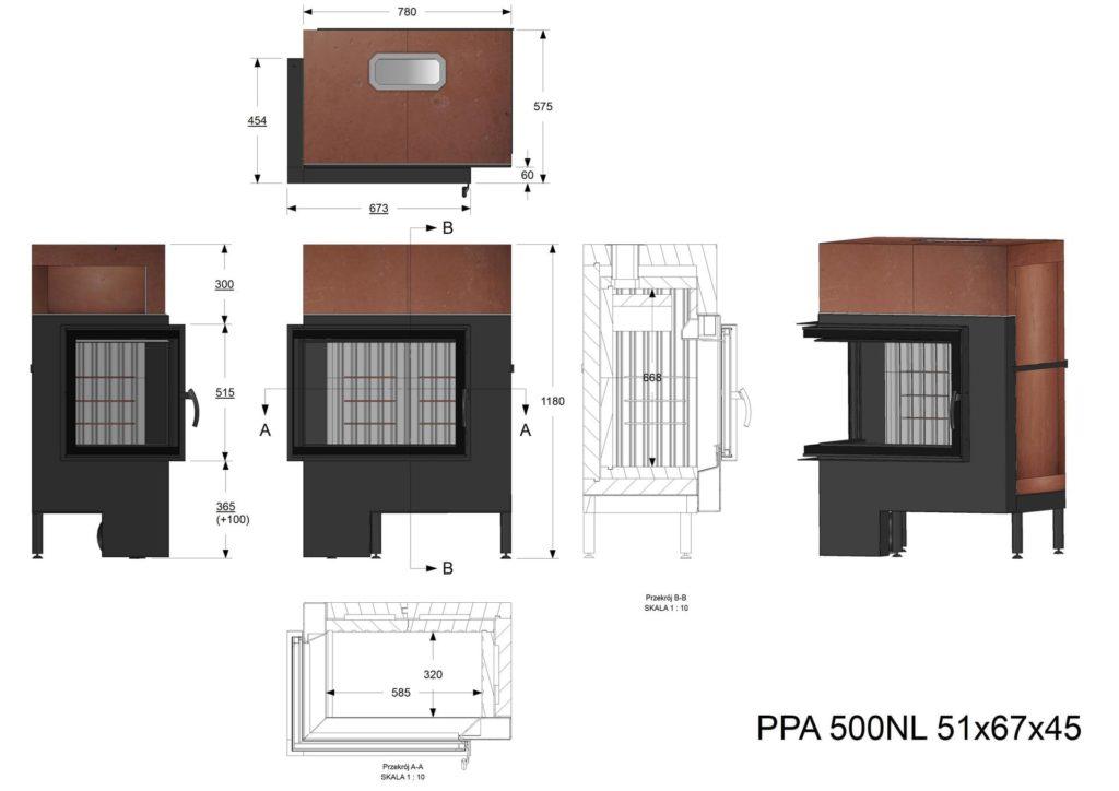 Palenisko akumulacyjne PPA 500 NL  67