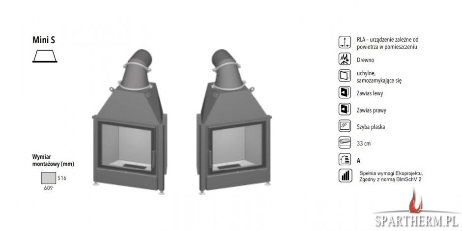 Wkład kominkowy Spartherm Mini S