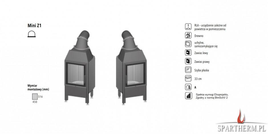 Wkład kominkowy Spartherm Mini Z1